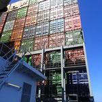 7 Etagen Container waren geladen