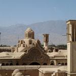 Blick über Kashan vom Dach des ehemaligen Hamam