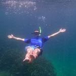 Simon beim Schnorcheln auf Pulau Payar