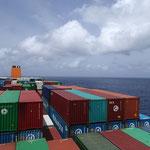 13'000 Container haben wir mit unserem schiff transportiert
