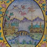 Fliesenmalerei in der Palastanlage