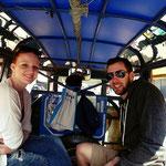 Tuktuk Fahrt mit unseren Freunden in Vientiane