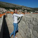 Dubrovnik: auf der Stadtmauer