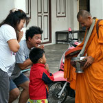 Der tägliche Almosengang der Mönche