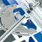 Gehrungs- und Längenanschlag SUPER-GEHRFIX II: stufenlose Gradeinstellung 1/100 mm durch LCD-Anzeige