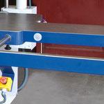 Tischplattenverlängerung ein-/beidseitig: mit ausziehbarer Rahmenauflage
