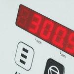 Umschaltbare LED-Anzeige: für Absolut- und Kettenmaß
