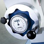 Messuhr mit Handrad für die Höhenverstellung,Teilung 0,1 mm