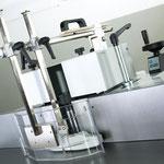 Fräsanschlag Typ 216: Gesamtverstellung über Handrad und LCD-Anzeige, inkl. Gussanschlagplatten