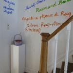 Treppenhaus mit Ausstellernamen