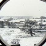 vue du gîte sur la campagne