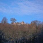 Blick zur Burgruine