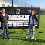 Lok-Sportvorstand Torsten Kracht (links) neben Mannschaftsverantwortlichen René Schmidt