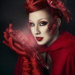MAQUILLAJE ÁRTISTICO EN ZARAGOZA DAMA INVERNAL con la fotógrafa artística Rebeca Saray