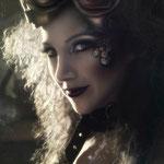 MAQUILLAJE ÁRTISTICO EN ZARAGOZA STEAMPUNK con la fotógrafa artística Rebeca Saray