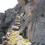 un sentiero esposto