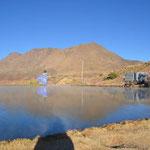 am Kratersee in 3500m Höhe, Wassertemperatur 32 Grad