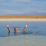 ohne festzuhalten!!! Laguna Cejar