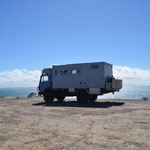 Unser Stellplatz an der Steilküste am Punto Ninfas