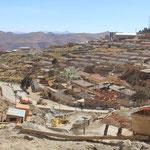 Blick von der Mine auf Potosi