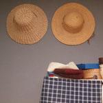 Ein neuer Platz für die Strohhüte im Büro/Hobbyraum.