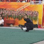 Brien performing Ba Xian Gun (8 immortals staff)