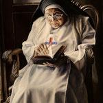 Retrato al óleo de la Reverenda Madre Conchita