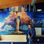 Pintura Mural en el hotel Villa Rosa, en Reinosa(Cantabria)
