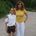 Mein Sohn Simon mit Stefanie Powers
