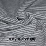 Jersey strepen grijs