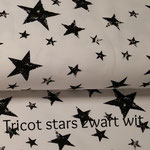 Tricot stars zwart wit