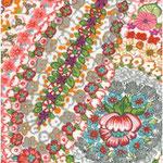 Geplastificeerd - Summerflowers pink