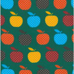 Geplastificeerd - Retro appels