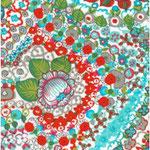 Geplastificeerd - Summerflowers blue