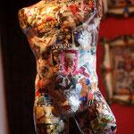 Collage sur buste d'homme 300€