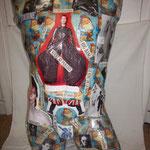 Collage sur buste David Bowie 300€