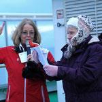 Bild 9-177 -Es gibt sogar eine Siegerin in einem Wettbewerb - sie hat den genauen Zeitpunkt der Polarkreisüberquerung erraten