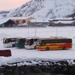 Bild 20-384 - Wartende Busse in Morgenstimmung
