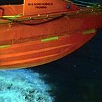 Bild 4-61 - Unterwegs unten Wellen, oben Rettungsboote