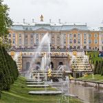 an der Sommerresidenz Peterhof