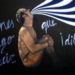 Si Tienes Algo Que Decir¡Dilo! (89x130cm) Óleo sobre Lienzo