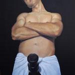 Retrato del Fotógrafo Israel Torres (Mi Hermano) (130x89cm) Óleo sobre Lienzo