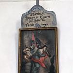 Simon v. Syrene hilft Jesus das Kreuz tragen.