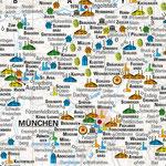 Bierkarte Deutschland