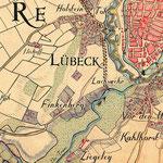 Varendorff 1796: Karte von Holstein - nach der Restaurierung
