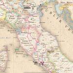 Goethe-Atlas: Italienische Reise