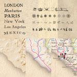 Historisierende Kartengestaltung