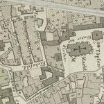Weiland 1841: Grundkarte von Weimar - vor der Restaurierung