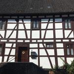 Schöne historische Häuser auf dem Rundgang durch den Ort.
