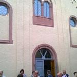 Eingang der Schweicher Synagoge